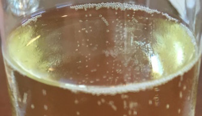 Champagne bubbles in a glass
