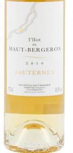 L'ilot de Haut Bergeron Sauternes 2010