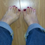 My feet. They have not been in any grapes, despite the name of this wine blog.In fact I have two feet, not one.