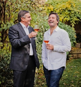 Neil McGuigan and John Torode toast their food and wine partnership