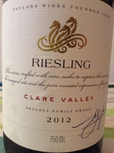 Wakefield Estate Riesling 2012 wine review