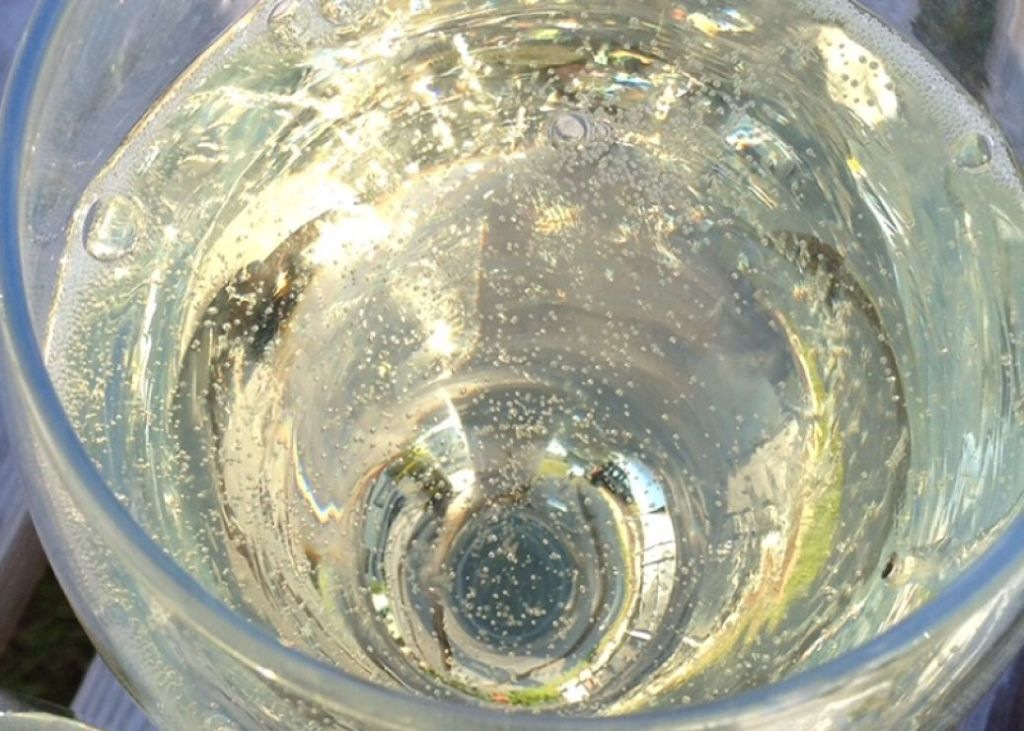McGuigan Frizzante sparkling wine in a glass