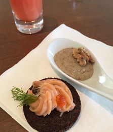 Viking River Cruise canapes