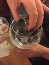 Pouring gin tasting Dace Crosby