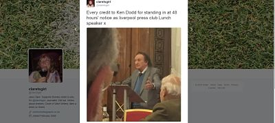 Ken Dodd press lunch