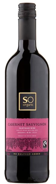 Sainsbury SO Organic Fairtrade wine Cabernet Sauvignon