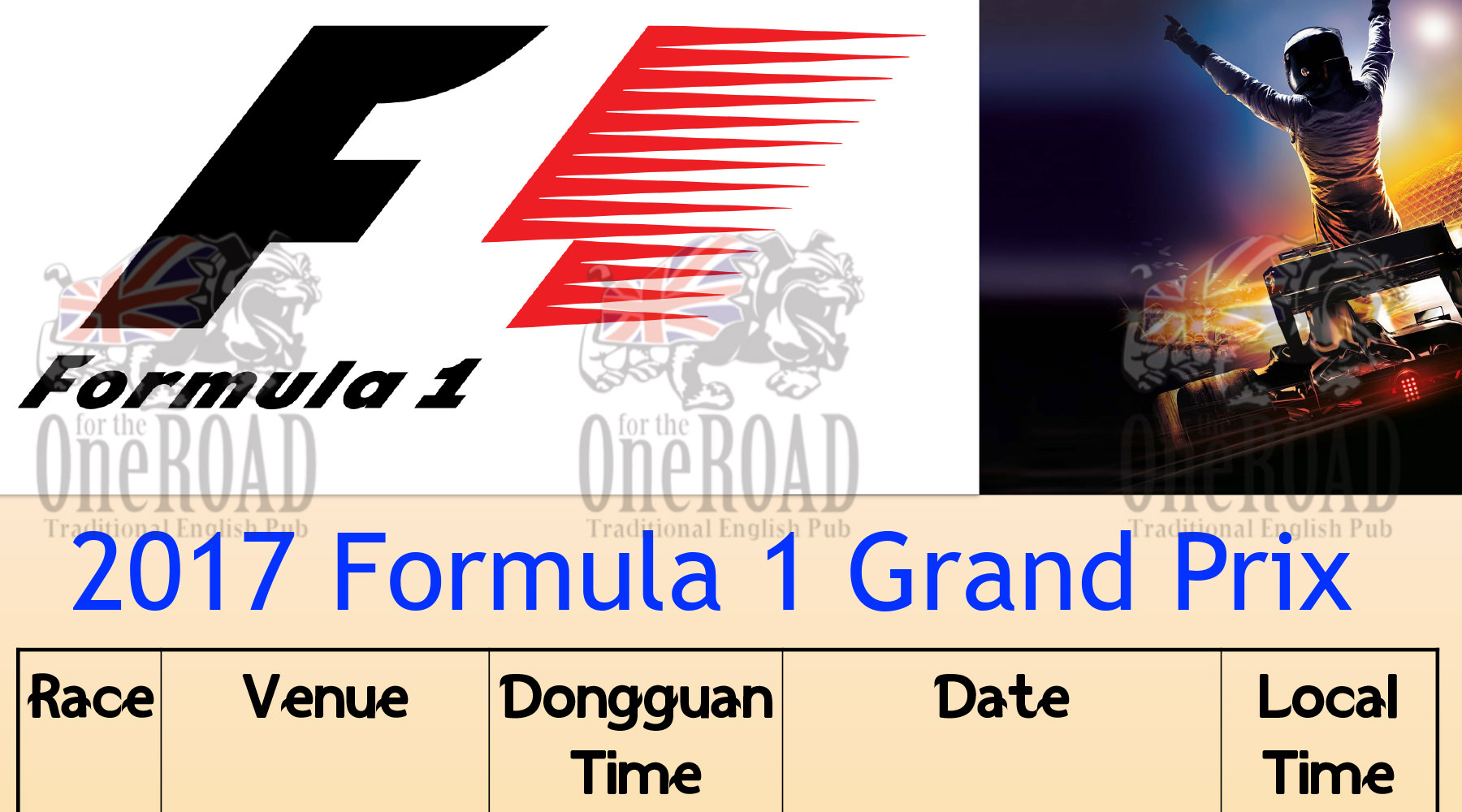 Watch all of the F1 Grand Prix races this year!