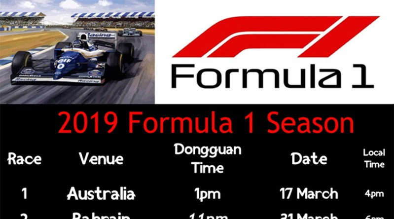 2019 Formula 1 – F1 Race and viewing schedule