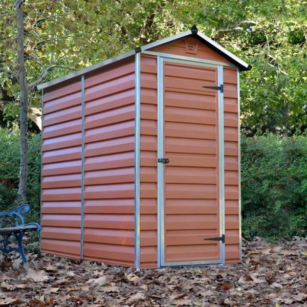 palram skylight amber plastic shed