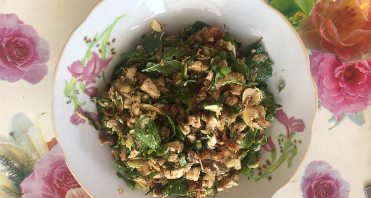 Recipe Laab Gai Minced Chicken With Herbs One Girl And Her Pack