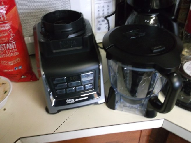 Ninja with Auto-IQ technology and the optional food processor attachment.