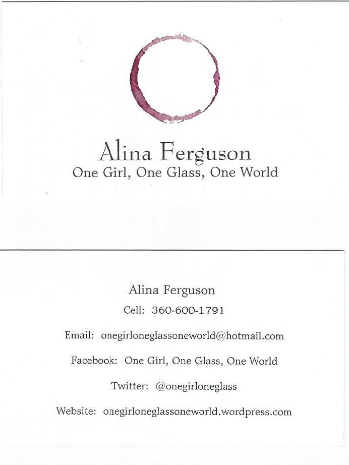 My business card. It's simple, yet effective.