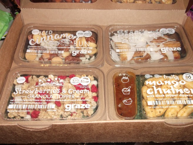 Bottom layer of an 8 item Graze Box