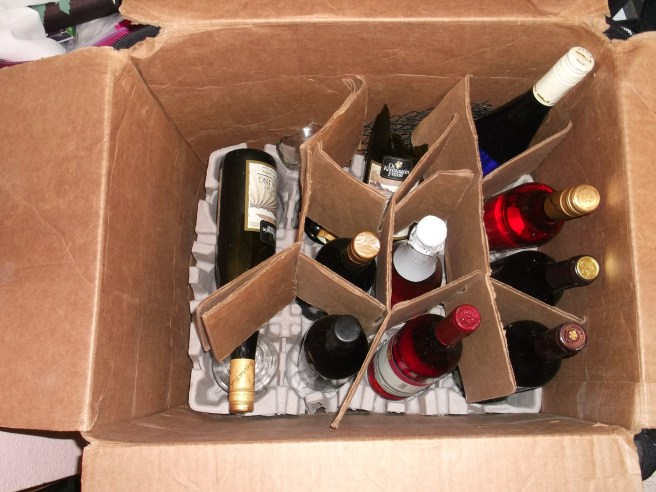 How my wine shipper boxed looked upon arrival at PDX.