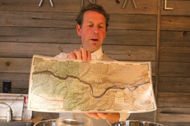 Steve sharing where the vineyard sites are.