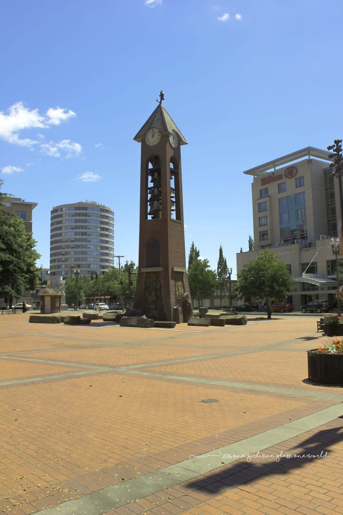 Esther Short Park's Propstra Square and Glockenspiel Tower