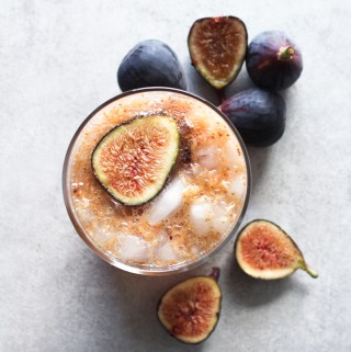 Maple Fig Bourbon Fizz