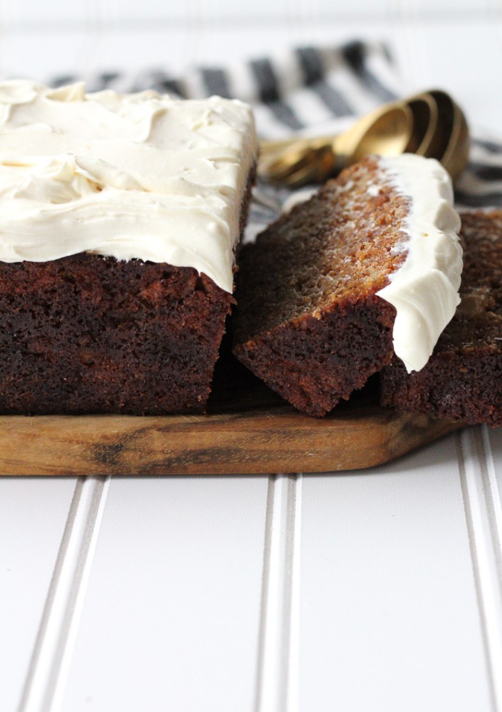 Apple Loaf Cake With Lemon Maple Cream Cheese Frosting
