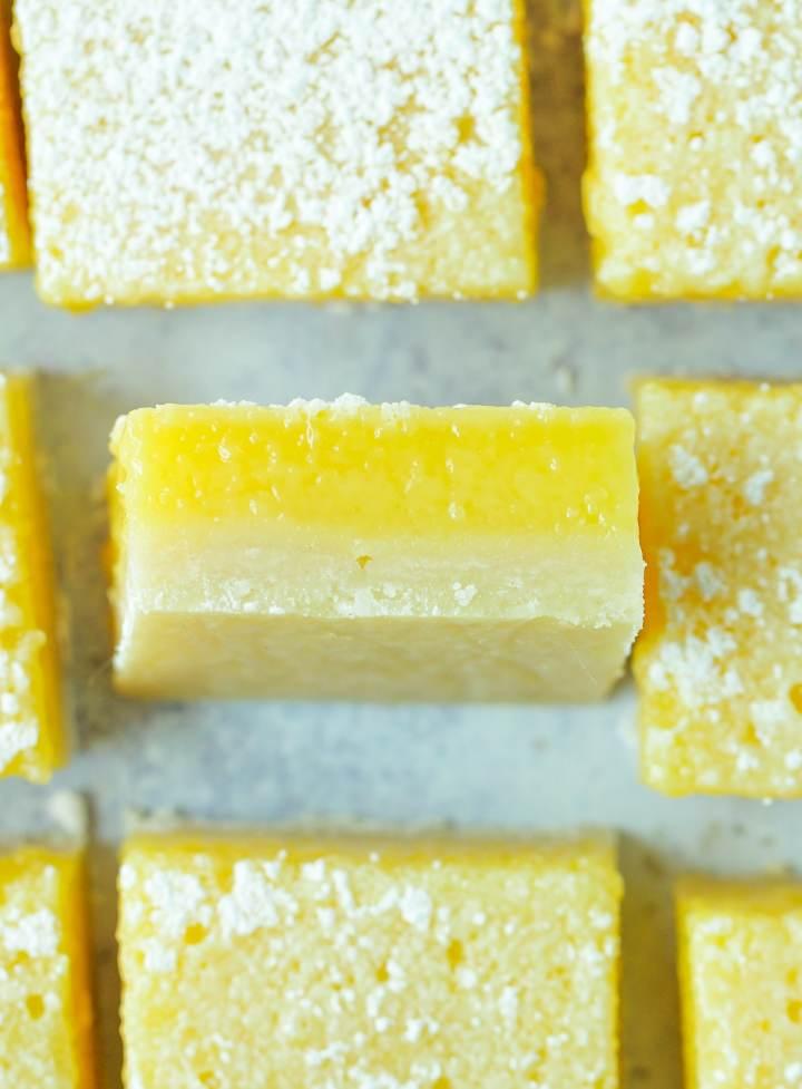 close-up of cut lemon rosé bar