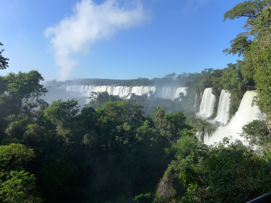Iguazu Falls Upper Circuit...all to ourselves because we planned ahead