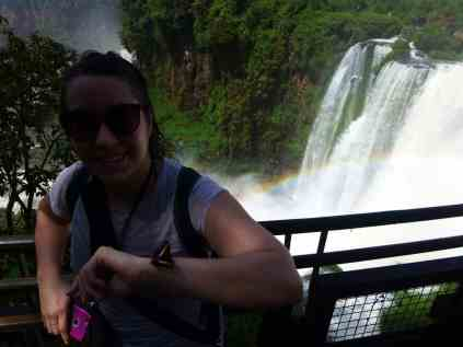 Butterflies and rainbows at Iguazu Falls. Easy trip-planning tips.