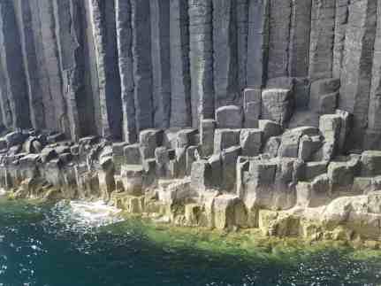 The basalt lava rock columns of Staffa