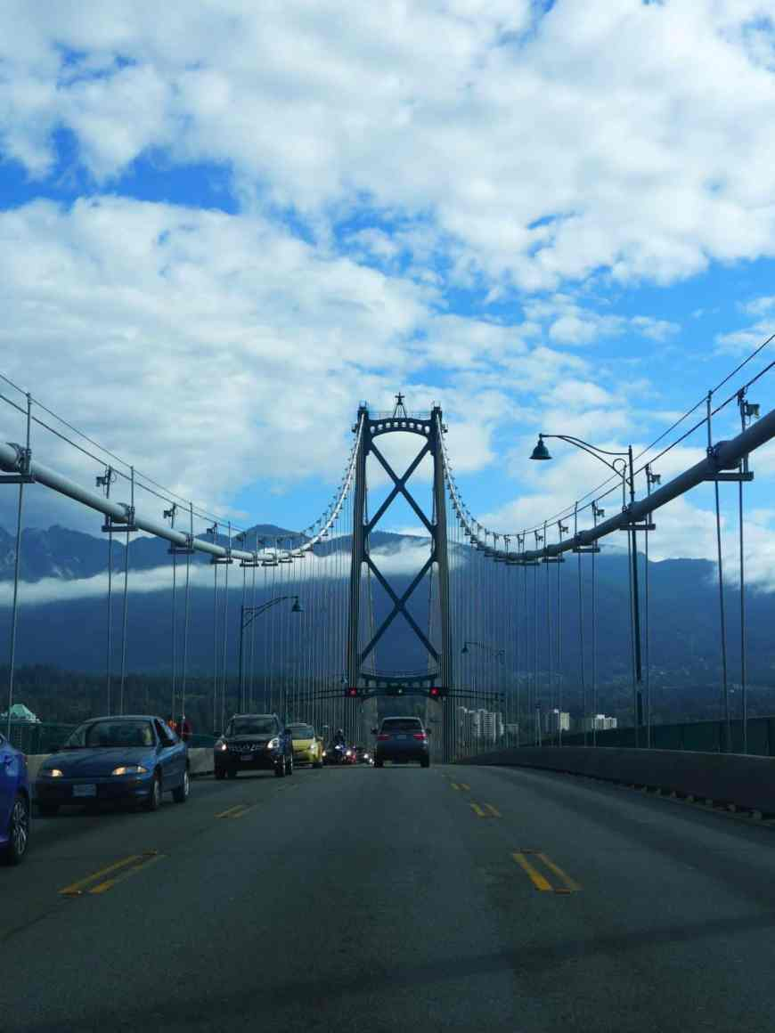 Leaving Vancouver & heading toward Whistler