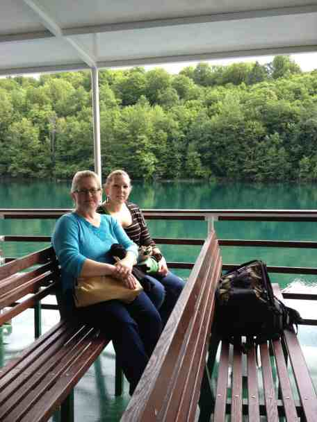 Riding the boat in Plitvice