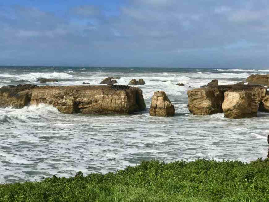 Crashing waves and rocky cliffs on the Point Buchon Trail #hiking