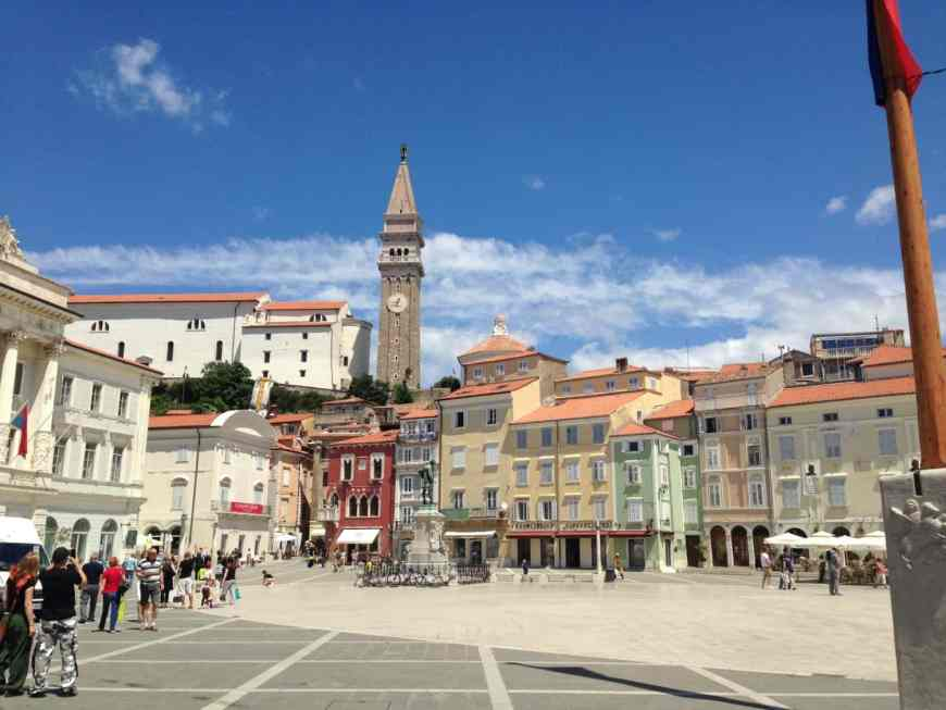 Piran occupies some of Slovenia's 47 km of gorgeous coastline, and is a must on any Slovenia itinerary