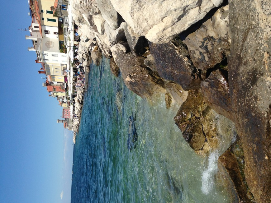 The gorgeous coast and turquoise waters of Piran, Slovenia