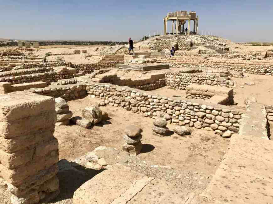 The ruins at Tel Be'er Sheva are one of the cool places to stop on the road from Tel Aviv to Eilat, along with Sde Boker and Mitzpe Ramon