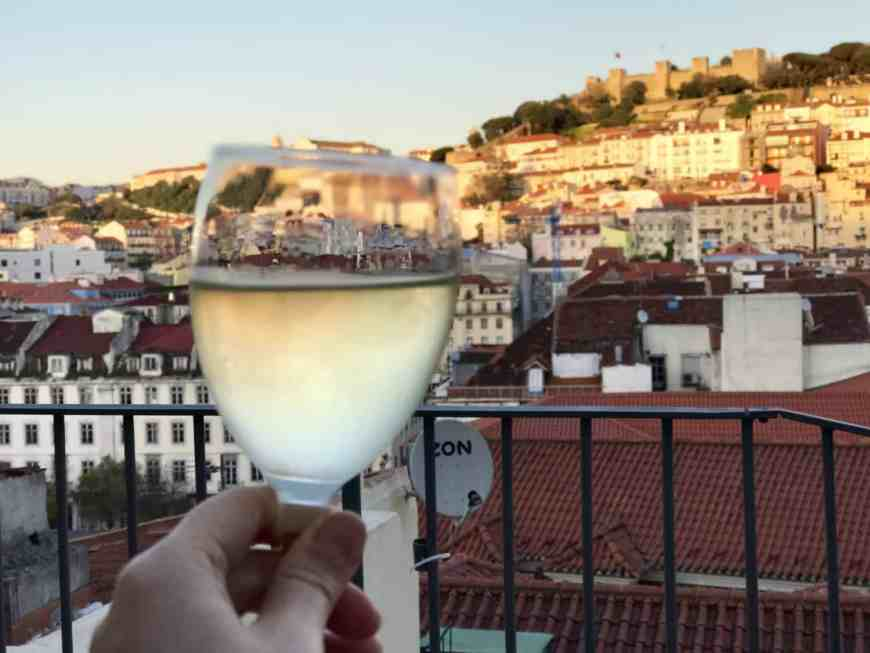 Talk about a drink with a view! The best rooftop bar in Lisbon with an amazing view, has to be on any Lisbon itinerary in nice weather. #portugal