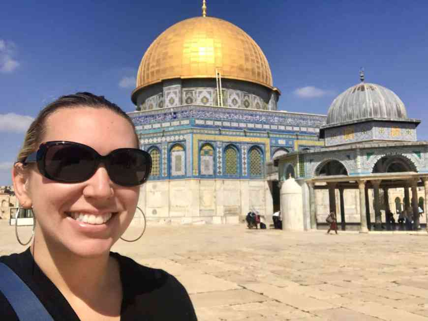How to visit the Temple Mount, Dome of the Rock, & Western Wall in Jerusalem   Tips for what to wear, when to go, what to bring, & how not to get in trouble   Jerusalem trip planning & itinerary ideas, what to do in Israel, and tips for visiting Jerusalem's Old City #templemount #jerusalem #israel