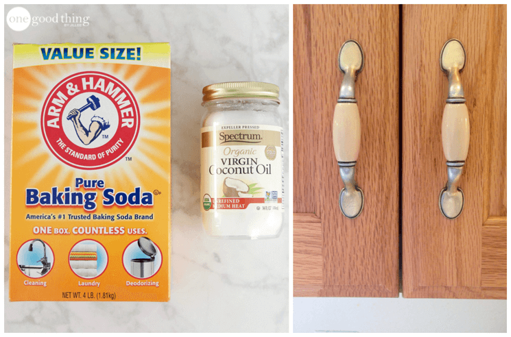 cleaning kitchen cabinets aid pasta press how to clean grimy with 2 ingredients jillee cabinet gunk remover