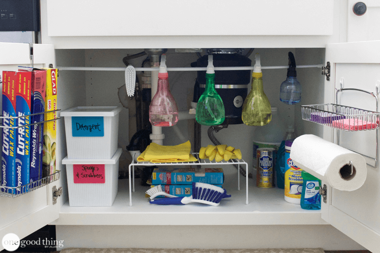 under kitchen sink organizer lowes black 5 easy ways to organize the space your jillee organization