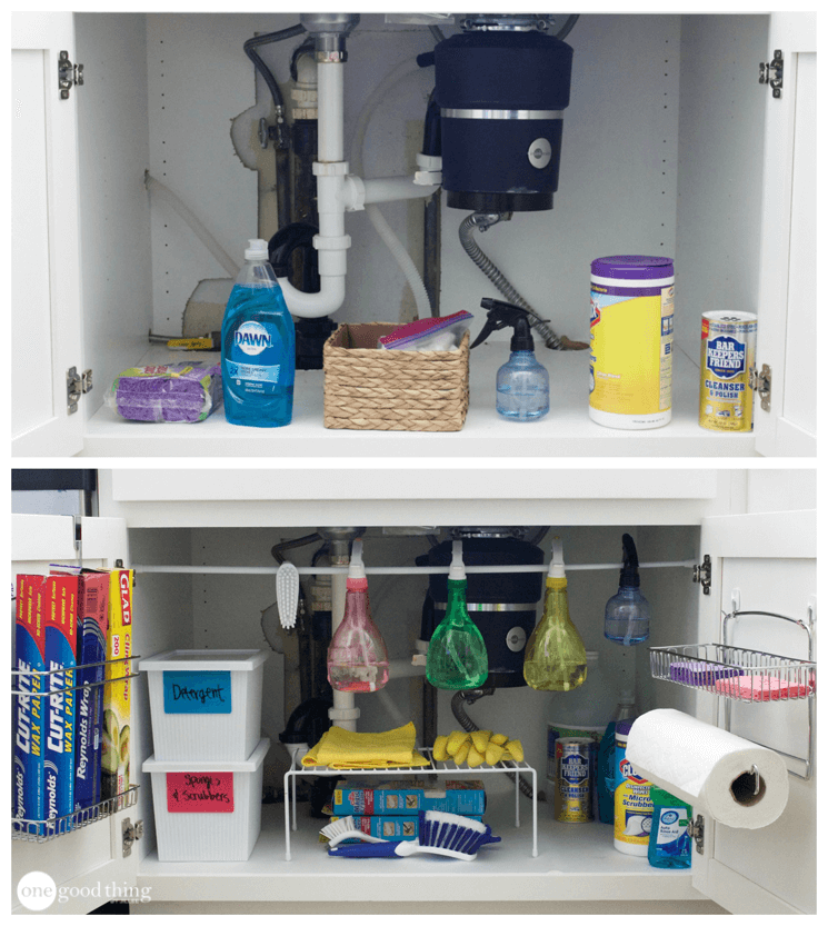 under kitchen sink organizer lighting design 5 easy ways to organize the space your jillee organization