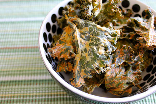 Vegan Sour Cream & Onion Kale Chips Brendan Brazier