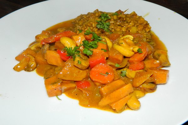 Mung Beans and Root Vegetable Curry