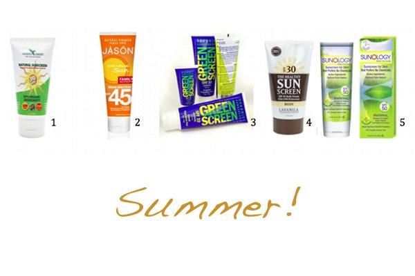 5 Natural, Vegan Sunscreens for Summer