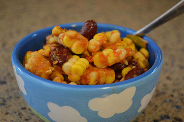 Recipe: Cajun Corn and Kidney Bean Salad