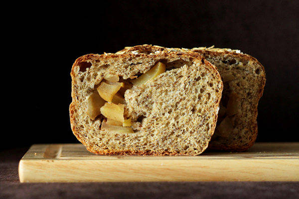 Recipe: Apple Pie Swirl Multigrain Bread Loaf