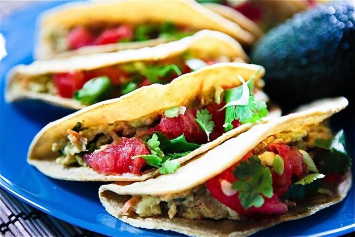 Recipe: Cilantro Avocado Chickpea Salad Tacos