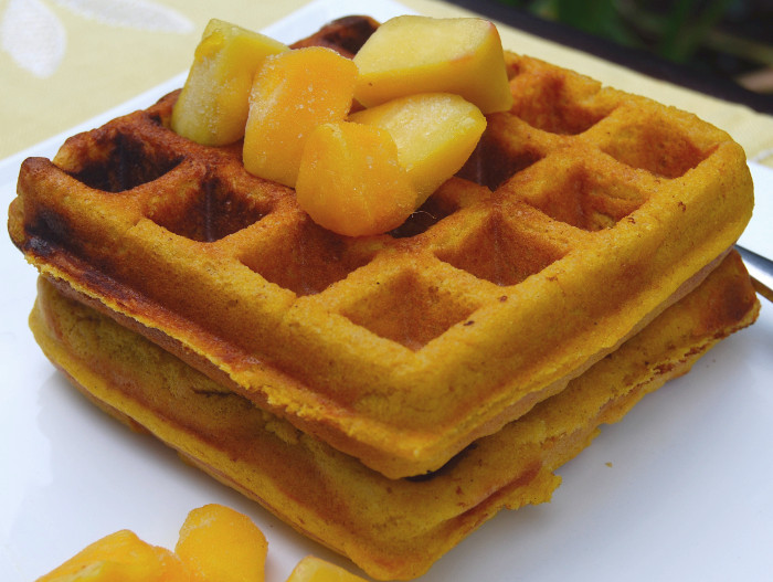 Recipe: Mango Waffles (Gluten-Free and Vegan)