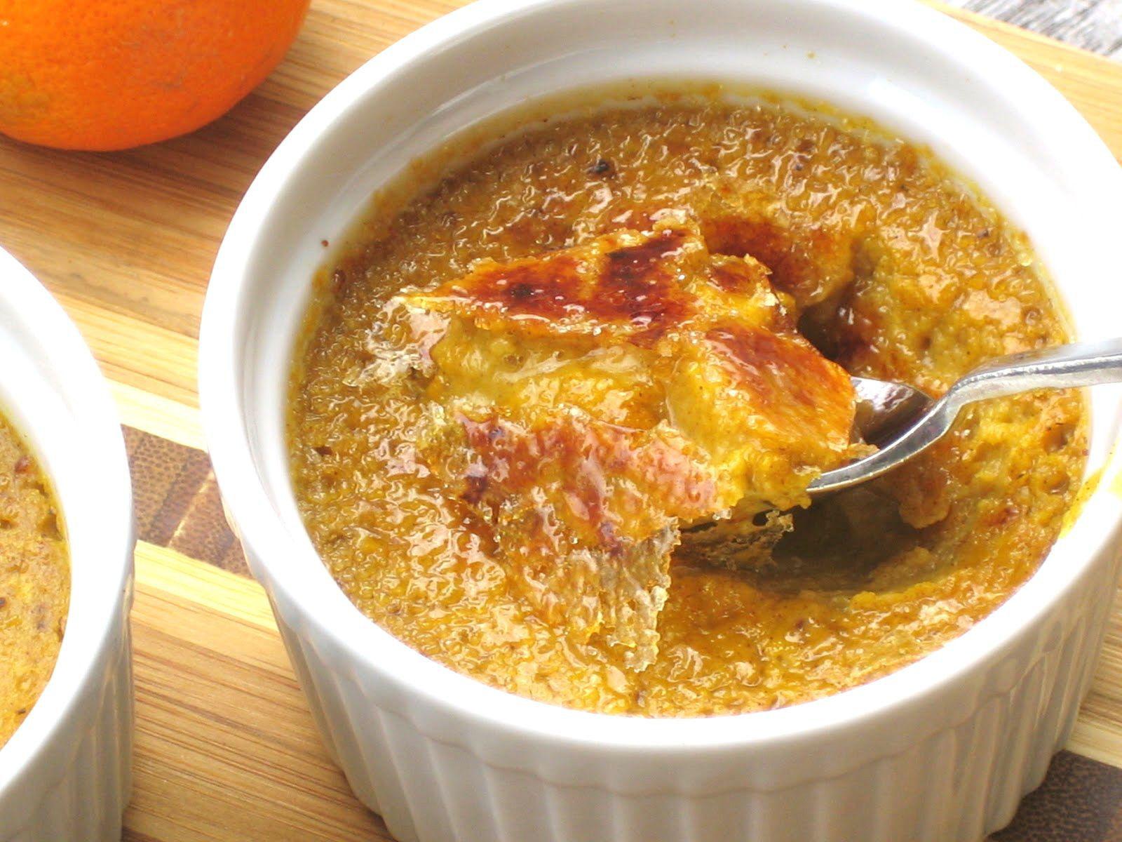 Pumpkin Pie Custards with Brûlée Topping