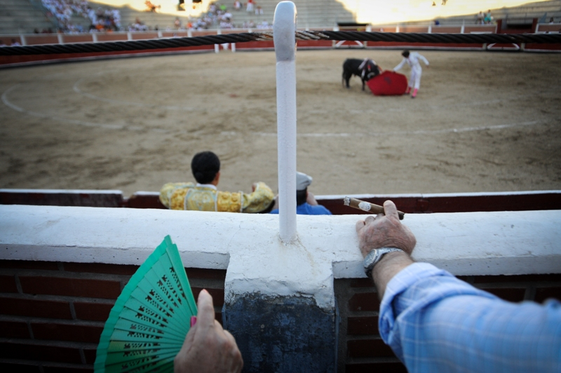 Bullfighting spectators, Sebastián de los Reyes, Spain, 2010