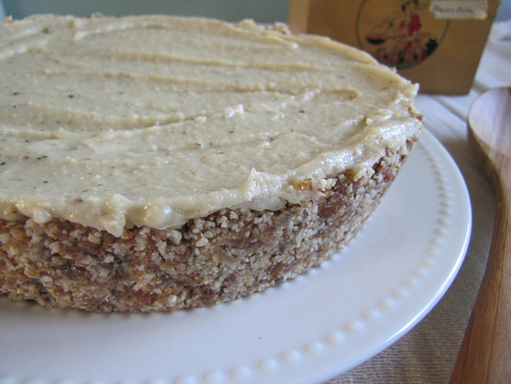 Raw Vegan Lavender Lemon Cheesecake