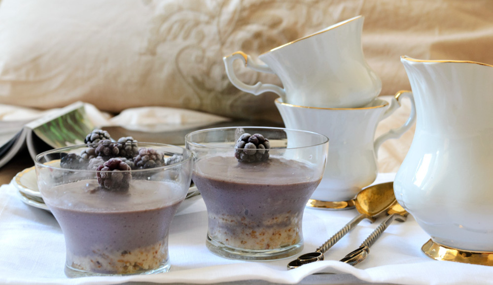 Raw Blackberry Breakfast Chocolate Cake