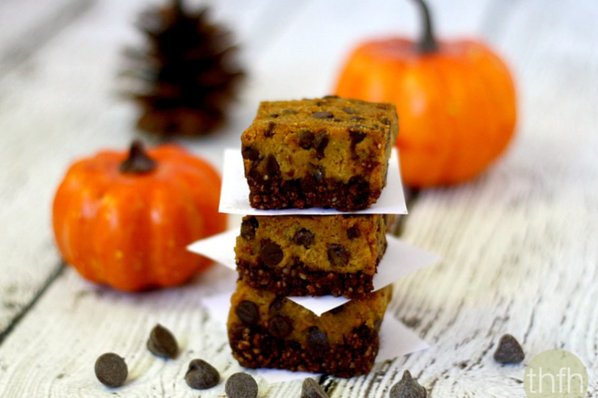 Clean Eating Chocolate Chip Pumpkin Bars [Vegan, GF]