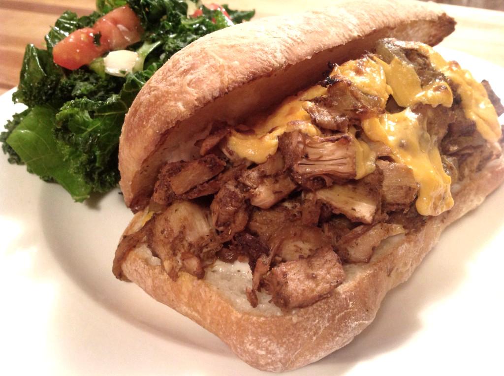 Vegan-Jackfruit-Philly-Cheesesteak-Sandwich